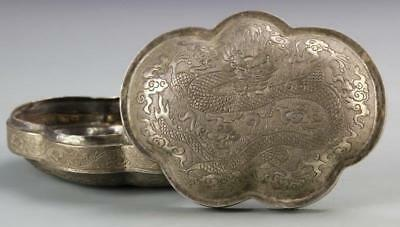 Fine Chinese Silver Ink Box.