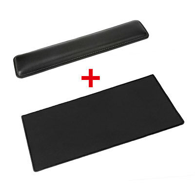 Black Waterproof Extended Gaming Mouse Pad Mouse Mat with Non-slip Rubber Base