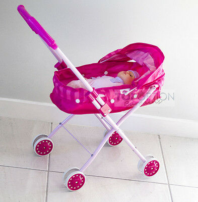 Deluxe Toy Pram/ Stroller with FREE Baby Doll Gift for Kids