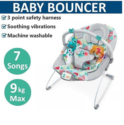 Baby Bouncer Rocker Vibrating Toy Chair Infant Child Seat Play Bright Starts
