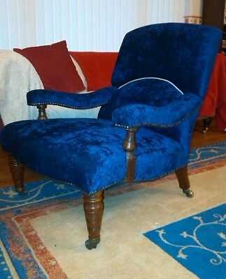 Victorian upholstered library easy chair