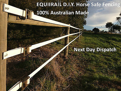 WHITE Equirail-D.I.Y. Horse Fencing.  Made by Think Fencing