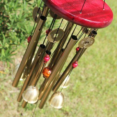 """33"""" Large Resonant Wind Chimes 10Tube Copper Church Bell Outdoor Garden Decor"""