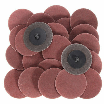 "25Pc 2"" 120 Grit Roloc Cleaning Conditioning Roll Lock Surface Sanding Discs New"