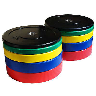150kg Coloured Bumper Plate Set For Weightlifting Crossfit Deadlift Weight Discs