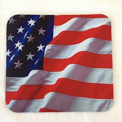 Patriotic American Flag Mouse Pad Red White Blue Stars Stripes