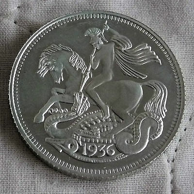 EDWARD VIII 1936 SILVER PROOF PATTERN CROWN  - george and the dragon