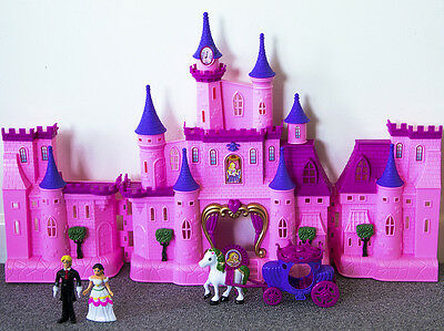 Dream Castle Doll House Play Set with Lights and Music Gift for Kids