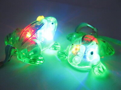 64Pcs Flashing Frog Necklaces For Disco Party