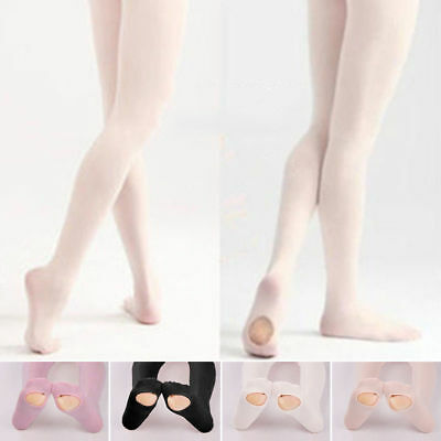 Convertible Tights Slim Dance Stockings Ballet Pantyhose Dancewear Kids Adult