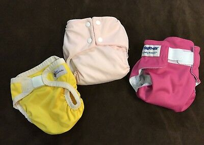 3x Size Small MCN Baby Beehinds Magic-Alls, Pea Pods