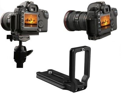 L-Shaped Bracket Tripod Vertical QR Quick Release Plate Hand Grip Fo Nikon Black