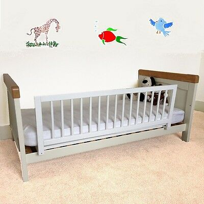 Wooden Bed Rail Cot/Single/Double Beds Barrier Guard Baby Sleep Safety Foldable