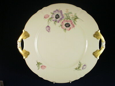 HUTSCHENREUTHER FLORAL CAKE PLATE c. 1928-43