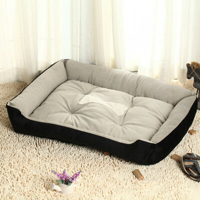 Pet Bed Dog Cat Puppy Deluxe Faux Suede Cushion Soft Washable Bed XXS-XL Size