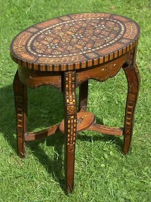 A Small Moorish Inlaid Oval Table (Various Pick Up Points)