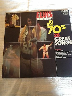 Elvis record LP    Elvis in the 70's   2 record set
