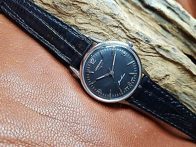 Used 1960's Longines Black Dial Manual Wind Man's Watch