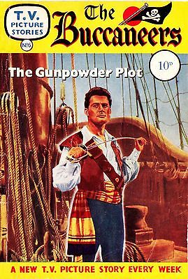 TV PICTURE STORIES - THE BUCCANEERS  -   Facsimile 68 page Comic