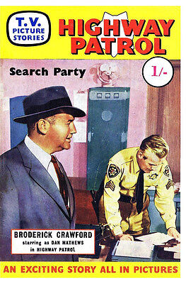 TV PICTURE STORIES - HIGHWAY PATROL  -   Facsimile 68 page Comic