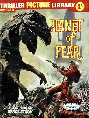 THRILLER PICTURE LIBRARY No.430  PLANET OF FEAR   -  Facsimile 68 page Comic