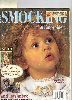Australian SMOCKING AND EMBROIDERY,  Issue 27, 1994,  Early Copy