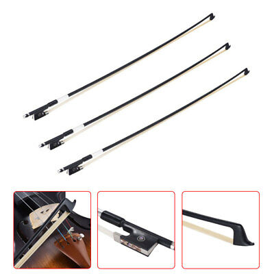 NEW 4/4 Black Carbon Fiber VIOLIN BOW Graphite Carbon STRAIGHT and Good Balance!