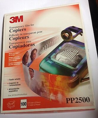 """3M PP2500 (100 SHEETS) Transparency Film For Copiers  8 1/2"""" x 11"""""""
