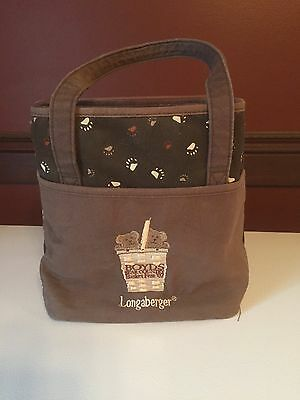 Longaberger Puppy Purse with liner