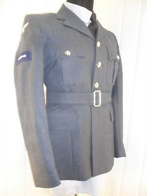 Royal Air Force NO1 Dress SD Uniform LAC RAF Jacket tunic 38 chest 40S STYLE