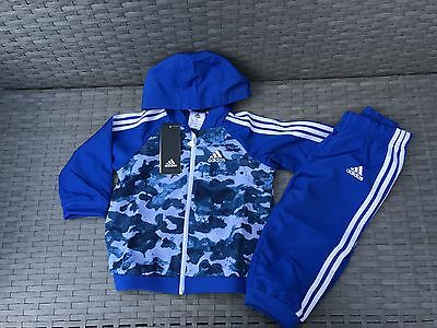 """NEW* Baby adidas Tracksuit Blue  Size UK 9-12 Months *Brand New With Tags*"