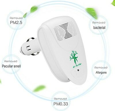 Car Air Purifier Portable Mini Hepa Ionizer Filter Freshener Smell Dust Remover
