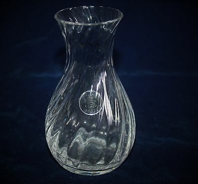 Dartington Crystal Vase With Spiral Twist