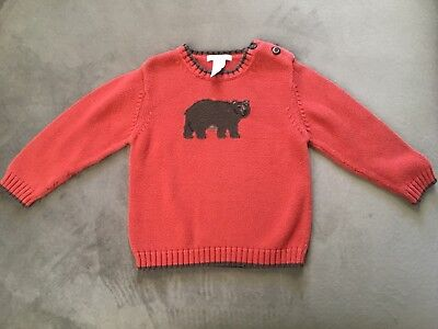 Janie and jack Baby Boy Sweater with Bear Size 2T, Super cute!