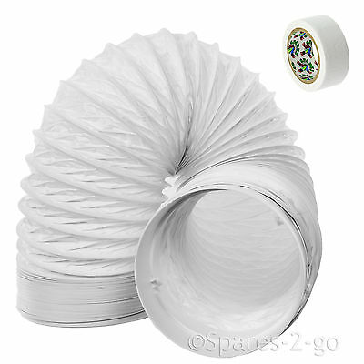 """UNIVERSAL 3m Air Conditioner Conditioning Vent Hose Pipe PVC Duct 5"""" Extension"""