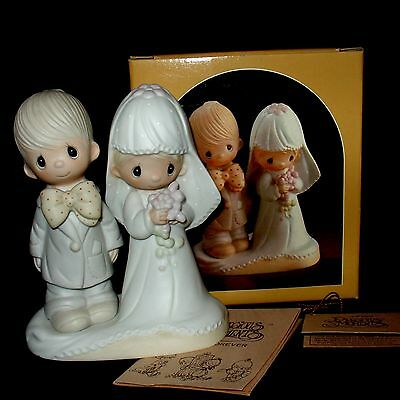 "Precious Moments Bride & Groom ""The Lord Bless You And Keep You"" (New In Box)"