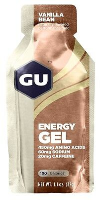 Gu Energy Gel  Box of 24 Gels - Vanilla Bean - BBE 10/17 SAVE OVER 60% CLEARANCE