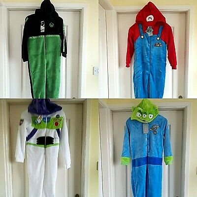 Bnwt  Primark Harry Potter/ Buzz/ Mario  All In One Pyjamas Costume  Sleepsuit