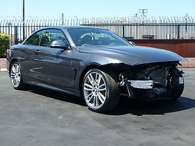 2016 BMW 4-Series 428i Convertible 2016 BMW 428i Convertible Wrecked Repairable Low Miles Luxurious Loaded Must See