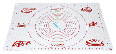 Extra Large Pastry Mat 45x65cm Rolling Size Guide Mat Baking Mat LFGB Approved