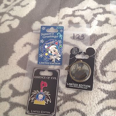 New Authentic Disney pin lot of 3 Limited Edition Misc pins #123