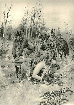 Erotic Vintage. 'Pen + Ink' Tragedy of War. Circ. 1700's. Fine Quality A4 Photo.