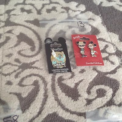 New Authentic Disney pin lot of 2 Misc Limited Edition pins #13