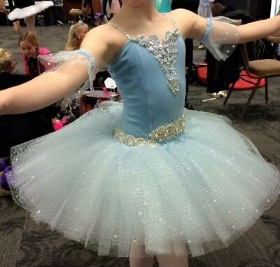 GORGEOUS TUTU Custom Child Large Dance Competition Costume for Ballet. BEAUTIFUL