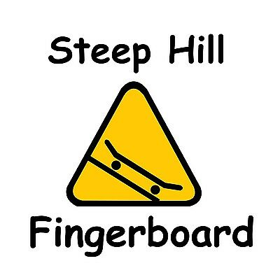 2 Stickers Steep Hill Fingerboard O-ring 32mm Trucks-Chrome Hardware,Tool