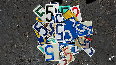 Lot of 50+ license plate 5's pieces