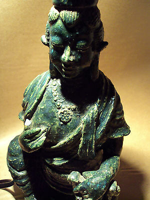 Rare Buddha Statue Ornament Stunning Japanese Green Vintage Rare Antique