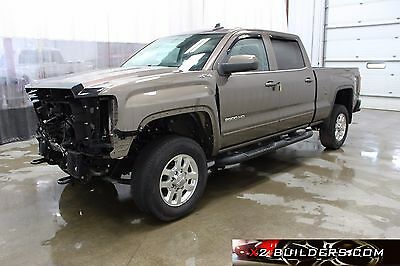2015 GMC Sierra 2500 SLE Crew Cab Pickup 4-Door 2015 GMC Sierra 2500 HD SLE Crew Cab Pickup 4-Door 6.0L, Salvage Title #588378