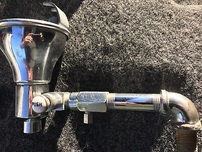 Vintage Drinking Fountain Stainless Steel Small W Valve