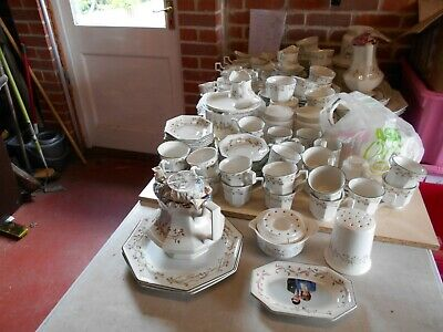 Johnson brothers Eternal Beau-various cereal platters cups saucers milk sugar
